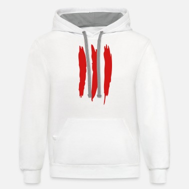 Scratch Three Scratches - Unisex Two-Tone Hoodie