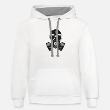 Gas gas mask - Unisex Two-Tone Hoodie