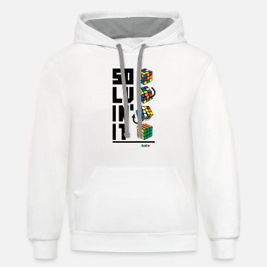 Rubik's Cube Solvin' It - Unisex Two-Tone Hoodie