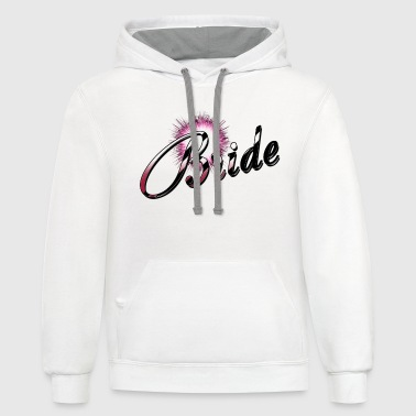 Bride Candy Cane Stripe - Contrast Hoodie