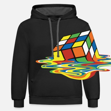 Anns Selection meltingcube - Unisex Two-Tone Hoodie