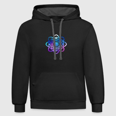celtic knot - Contrast Hoodie