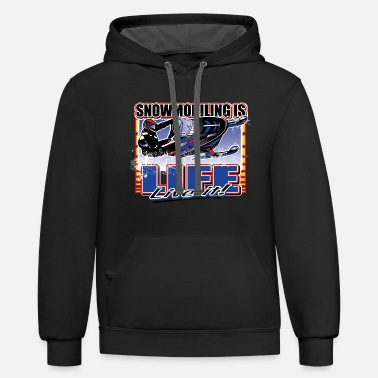 Snowmobiling-is-life - Contrast Hoodie