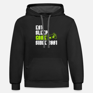 18th Birthday 18th birthday videogames present gift - Contrast Hoodie