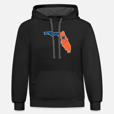 Coast Guard Coast Guard Florida Coast Guard Auxiliary Shirt - Contrast Hoodie