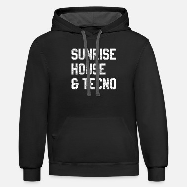 Techno House music techno afterhour - Contrast Hoodie
