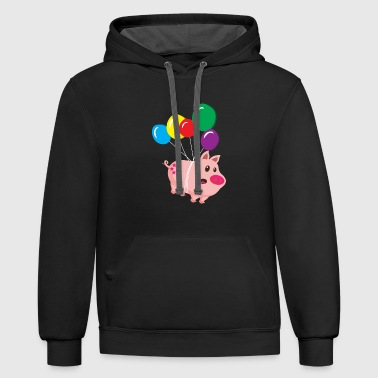 Cool sow takes off - Contrast Hoodie