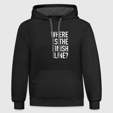 Where Is The Finish Line - Running - Total Basics - Contrast Hoodie