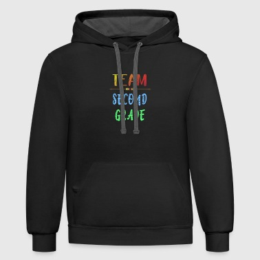 Team Second Grade Schoolchild Primary School Class - Contrast Hoodie