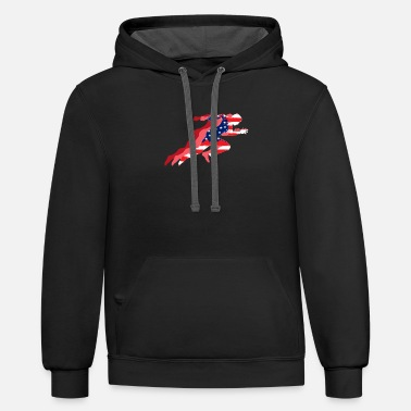 Track TRACK & FIELD: Track and Field US Flag - Contrast Hoodie