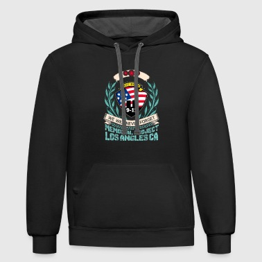 NYC DC PA 9 11 We Will Never Forget Memorial Proje - Contrast Hoodie