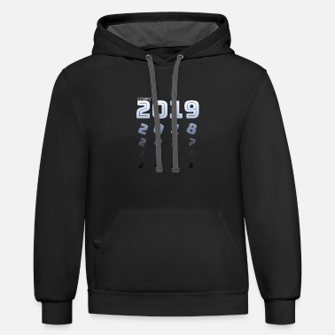 happy new year t shirt funny - Contrast Hoodie