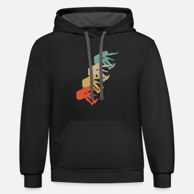 Jump Style Retro Vintage Style Long Jump Jumper Jumping - Contrast Hoodie