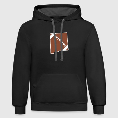 Football New Mexico Fun Football Lover Gift - Contrast Hoodie