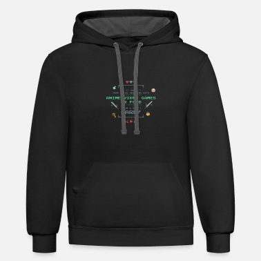 Anime Video Games Tshirt - Contrast Hoodie