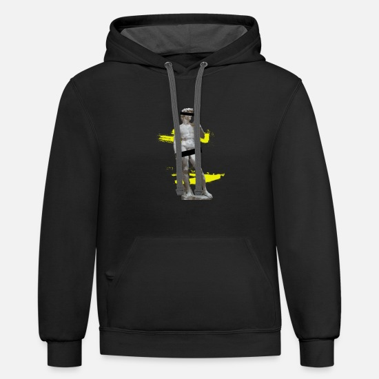 Abstract Hoodies & Sweatshirts - Pop Art Censorship Degenerate Art - Michelangelo's - Unisex Two-Tone Hoodie black/asphalt