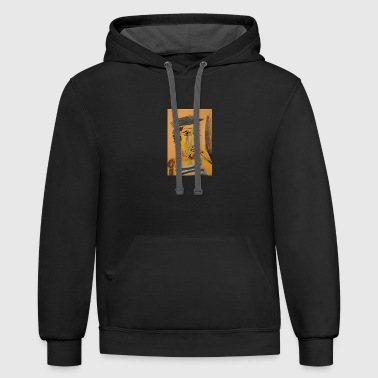 Man with Cigarette - Contrast Hoodie