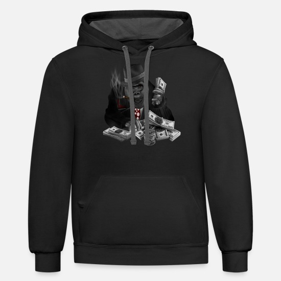Money Hoodies & Sweatshirts - gorillaz mafia - Unisex Two-Tone Hoodie black/asphalt