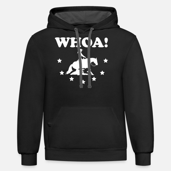 Gift Idea Hoodies & Sweatshirts - Western Riding Reining Rider horse love gift - Unisex Two-Tone Hoodie black/asphalt
