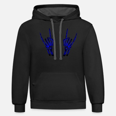 Climbing &amp Skeleton Rock Hands - Unisex Two-Tone Hoodie