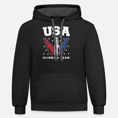 Team Usa USA Drinking team - Contrast Hoodie