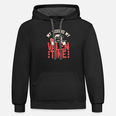 Valentine's Day Dog Valentine's Day - Unisex Two-Tone Hoodie