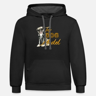 dog cat pet animal Hund Katze Haustier Tier sale A - Unisex Two-Tone Hoodie