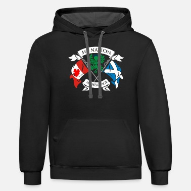 Clubbing Canadian Scottish - Unisex Two-Tone Hoodie