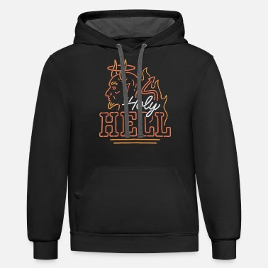 holy hell hot rod - Unisex Two-Tone Hoodie
