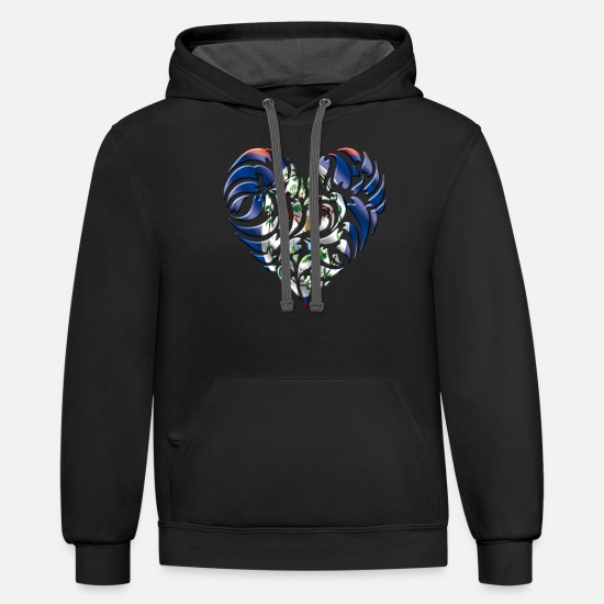 Belize Hoodies & Sweatshirts - Belize - Unisex Two-Tone Hoodie black/asphalt