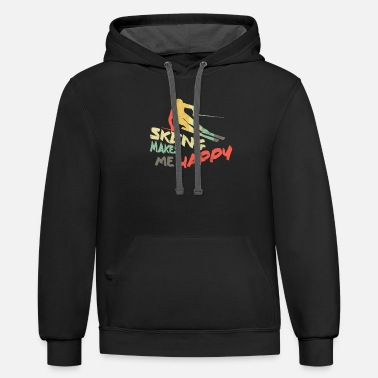 Ski Resort Skiing - Unisex Two-Tone Hoodie