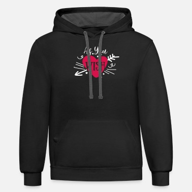 Hen Just Married Bridal Bachelorette Party Design - Unisex Two-Tone Hoodie