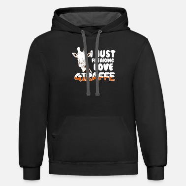 Ruminants Giraffe Love Ruminant animals - Unisex Two-Tone Hoodie