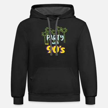 Eve Birth PARTY WITH THE 90TH YEARS EVE - Unisex Two-Tone Hoodie