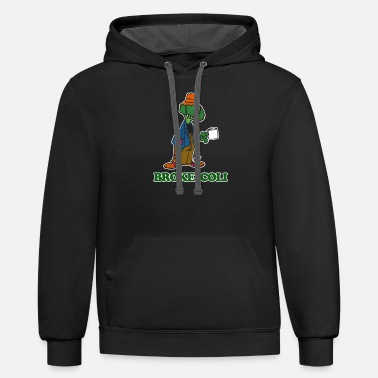 Food BrokeColi Broccoli - Funny Food Vegetables - Unisex Two-Tone Hoodie