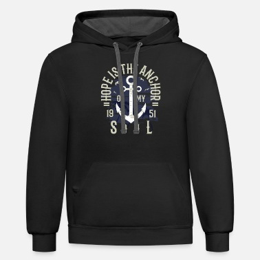 Hope Is The Anchor2 - Unisex Two-Tone Hoodie