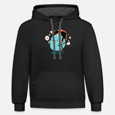 Pluto is on vacations - Unisex Two-Tone Hoodie