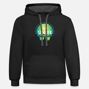 Holidays Goodbye School Hello Summer - holiday vacation - Unisex Two-Tone Hoodie