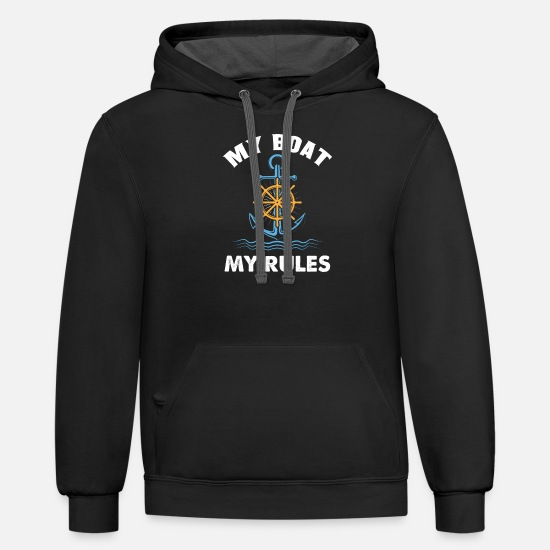 Boat Hoodies & Sweatshirts - BOATING - Unisex Two-Tone Hoodie black/asphalt
