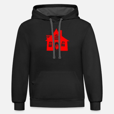 Haunted House haunted house - Unisex Two-Tone Hoodie