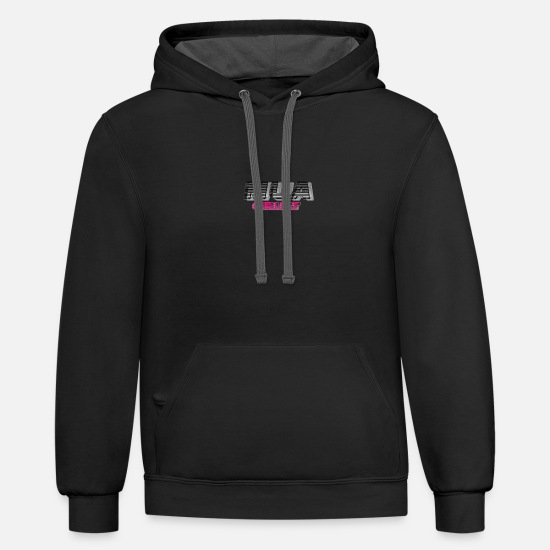 Mouth Hoodies & Sweatshirts - mua girlies - Unisex Two-Tone Hoodie black/asphalt