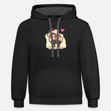 Affection Affective relationship heart - Unisex Two-Tone Hoodie