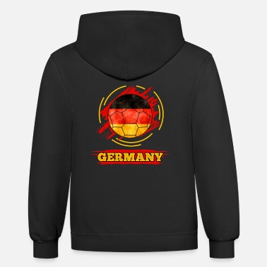 Countries Soccer Country Flag Germany - Unisex Two-Tone Hoodie