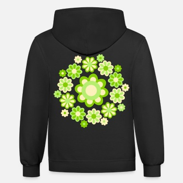 Cheerful Madness Floral Mandala by Cheerful Madness!! - Unisex Two-Tone Hoodie