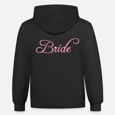 Groom Bride Text Word Graphic Design Picture Vector - Unisex Two-Tone Hoodie