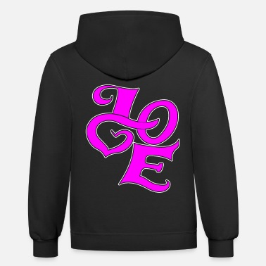 Love With Heart Love with heart - Unisex Two-Tone Hoodie