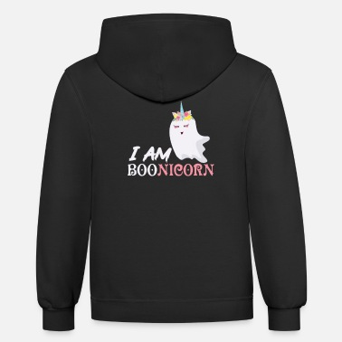 Ghosts Halloween Unicorn Ghost - Unisex Two-Tone Hoodie