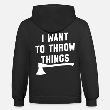 Axepert Axe Throwing Throw Darts Swing Thrower Gift Things - Unisex Two-Tone Hoodie