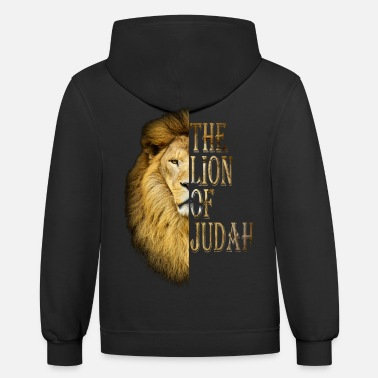 Lion Lion of judah - Unisex Two-Tone Hoodie