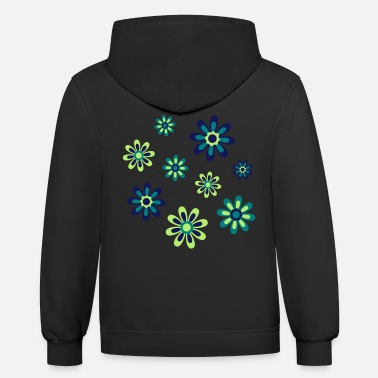 Cheerful Madness Floral Fantasy by Cheerful Madness!! - Unisex Two-Tone Hoodie